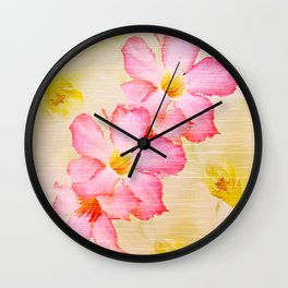 Desert Rose and Orchids  Wall Clock
