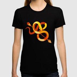 gold snake T-shirt