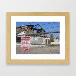 Burned - 2  Framed Art Print