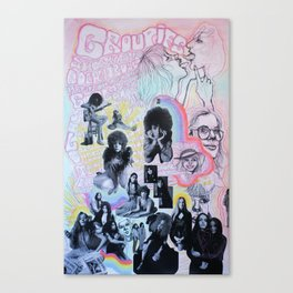 Groupies and Other Girls Canvas Print