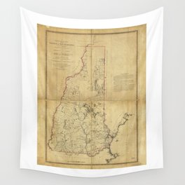 Topographical Map of the Province of New Hampshire (1784) Wall Tapestry