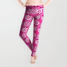 Pink Flower Pattern Leggings