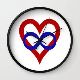 Polyamory Pride Heart Wall Clock