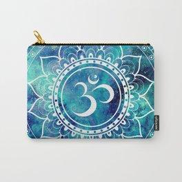 Galaxy Om Mandala Aqua Midnight Blue Carry-All Pouch