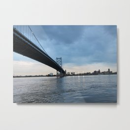 Betsy Ross Bridge in Philadelphia Metal Print