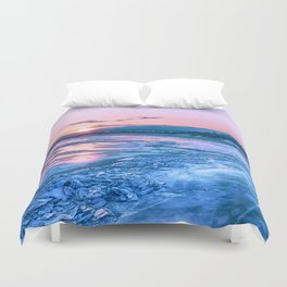 Baikal sunrise Duvet Cover