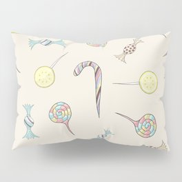 Candy Rush // lollipops, candy canes, toffees, candies Pillow Sham