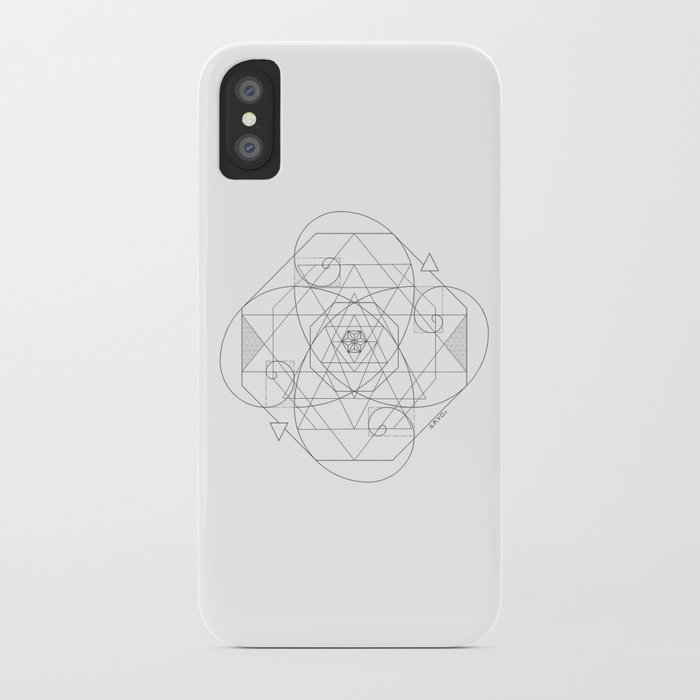online store 38340 5c060 Fibonacci Geometric Mandala iPhone Case by colochoamvo