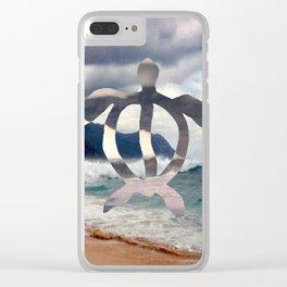 Hawaii Sea Turtle Clear iPhone Case