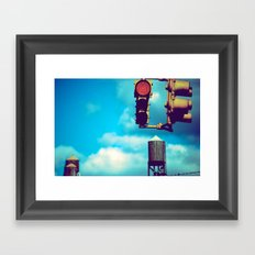 NYC Traffic Light Framed Art Print