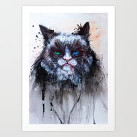 The most happiest kitty is named is NIX Art Print