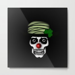 Irish Clown Skeleton Metal Print