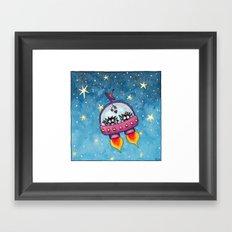 Space Lovers Framed Art Print