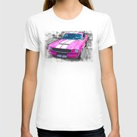 mustang T-shirts featuring Pink Mustang  by Paul Stephenson