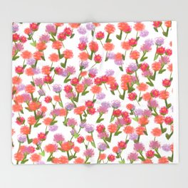 Watercolour ditsy Throw Blanket