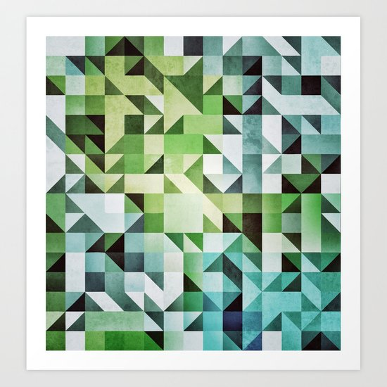 :: geometric maze II :: Art Print