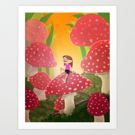 On the Toadstool Art Print