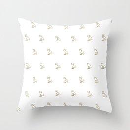 Classic Owl - White Throw Pillow