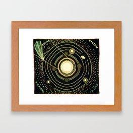 Solar System quilt by Ellen Harding Baker (1886) Framed Art Print