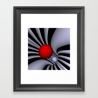 opart tunnel -3- Framed Art Print