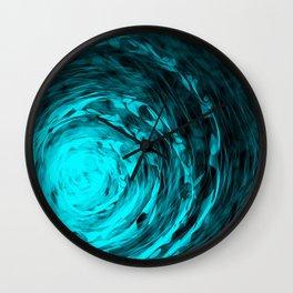 Organic Spiral - Aqua Wall Clock
