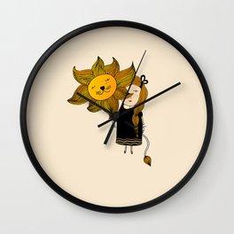 Leo Girl Wall Clock