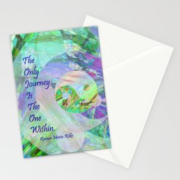 The Only Journey Is The One Within / Rilke Stationery Cards