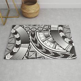 UrbanNesian Black and White Tatau Rug
