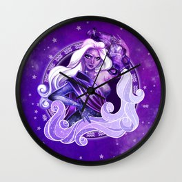 Amethyst Aquarius Wall Clock
