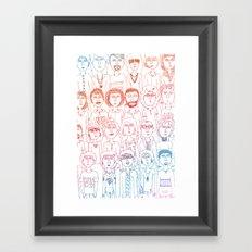 So Many People Framed Art Print