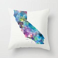 California Map Throw Pillow