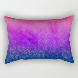 Purple lace pattern. Rectangular Pillow