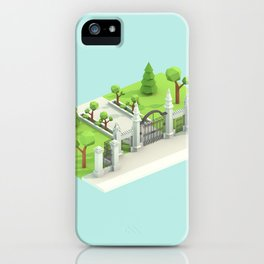 Low Poly Trinity Bellwoods iPhone Case