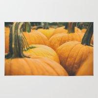 pumpkin Area & Throw Rugs featuring Pumpkin by Matthew Davis