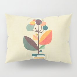 Potted plant with a bird Pillow Sham