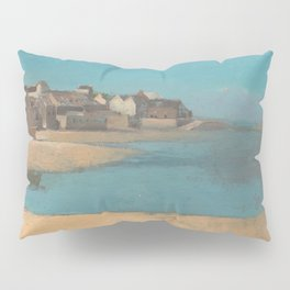 Odilon Redon - Village by the Sea in Brittany Pillow Sham