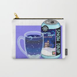 Snow Drop Winter Night Pixel Soda Carry-All Pouch