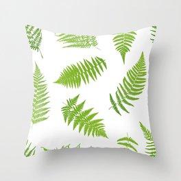 Fern seamless pattern Throw Pillow