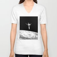 apollonia V-neck T-shirts featuring asc 579 - Le vertige (Gaze into the abyss) by From Apollonia with Love