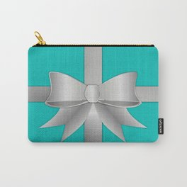 Blue Gift Box Carry-All Pouch