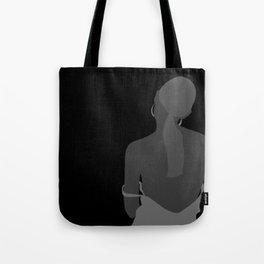WOMAN - back , hot , sad girl , melancholic drawing Tote Bag