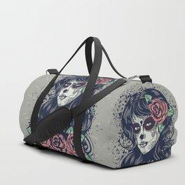 Vintage sugar skull girl Duffle Bag