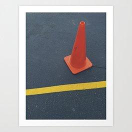 Traffic Cone Art Print