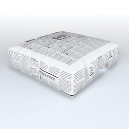 The Daily Mage Fantasy Newspaper Outdoor Floor Cushion