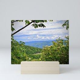 Peek hole into the Smokey Mountains Mini Art Print