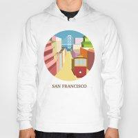 san francisco Hoodies featuring San Francisco by uzualsunday