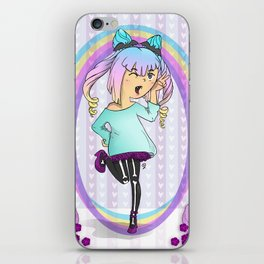 Girl Pastel Goth iPhone Skin