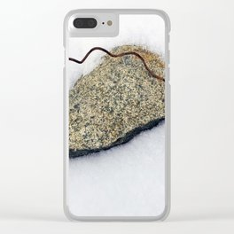 Spring in the Snow Clear iPhone Case