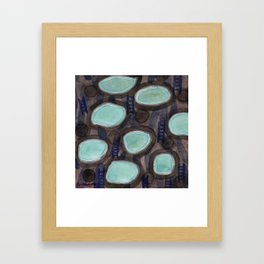 Pools and Ladders Framed Art Print
