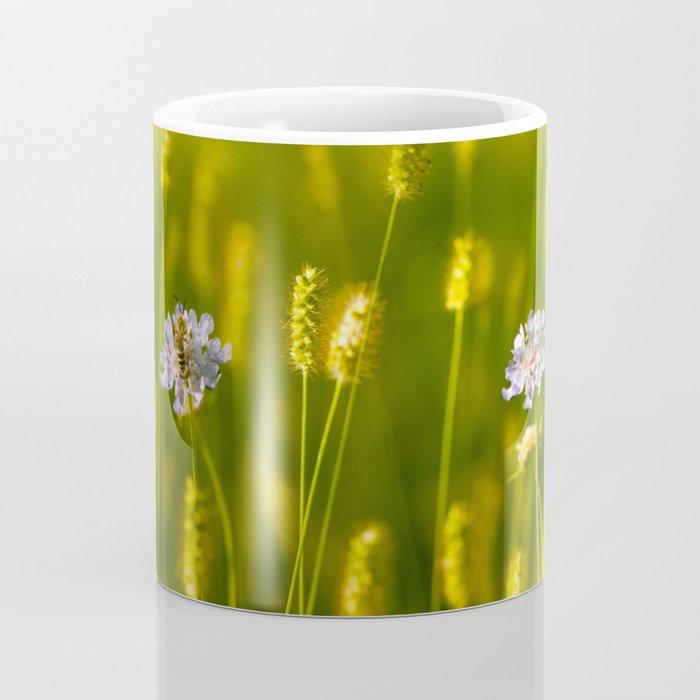 Flowery meadow and the bee Coffee Mug